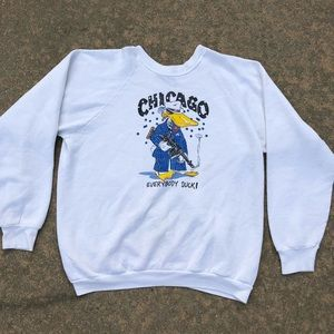 Vintage Chicago Everybody Duck Gangster Crewneck